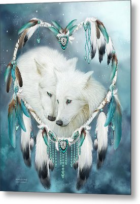 Heart Of A Wolf Metal Print by Carol Cavalaris