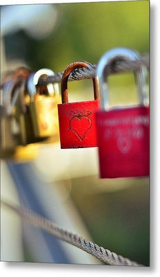 Heart On The Padlock Metal Print by Gynt
