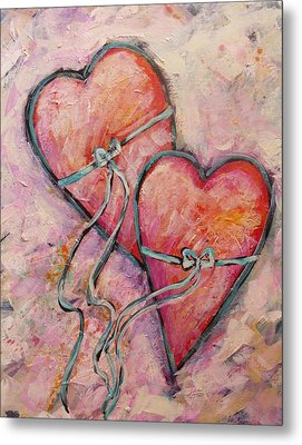 Heart Strings Metal Print by Carol Suzanne Niebuhr