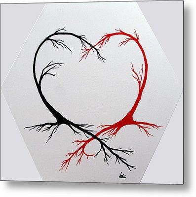 Heart Trees - Arteries Of Love Metal Print by Marianna Mills