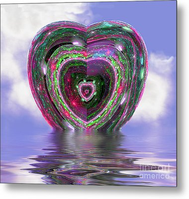 Heart Up Metal Print by Dee Flouton