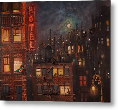 Heartbreak Hotel Metal Print by Tom Shropshire