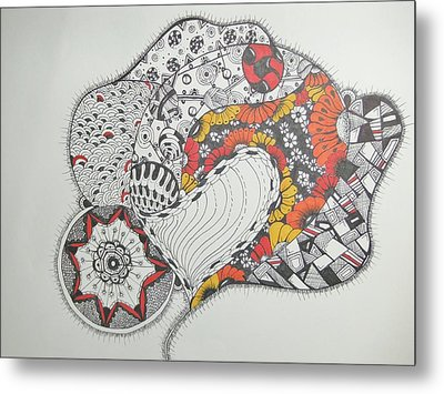 Hearts And Flowers Metal Print by Lori Thompson