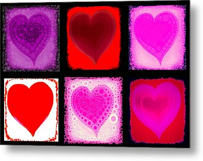 Hearts Metal Print by Cindy Edwards