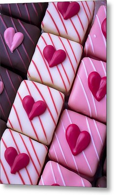 Hearts On Candy Metal Print by Garry Gay