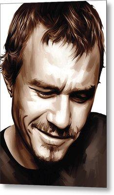 Heath Ledger Artwork Metal Print by Sheraz A