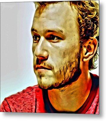 Heath Ledger Portrait Metal Print by Florian Rodarte
