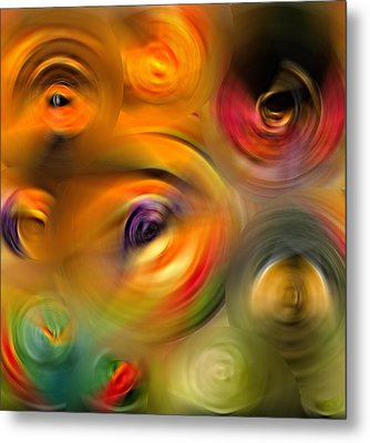 Heaven's Eyes - Abstract Art By Sharon Cummings Metal Print by Sharon Cummings