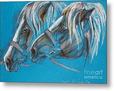 Heavy Horses Metal Print by Angel  Tarantella
