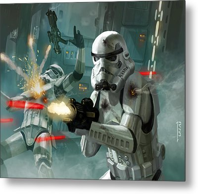 Heavy Storm Trooper - Star Wars The Card Game Metal Print by Ryan Barger