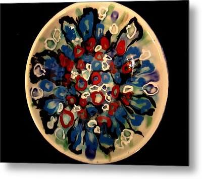 Heavy Textured Bowl Metal Print by Martha Nelson
