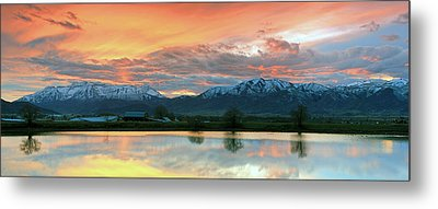 Heber Valley Sunset Metal Print by Johnny Adolphson