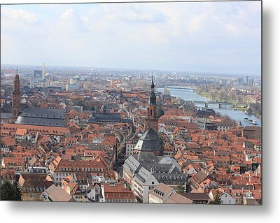 Heidelberg The City Metal Print by Laura Watts
