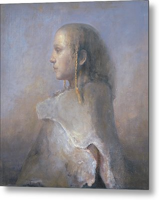 Helene In Profile  Metal Print by Odd Nerdrum