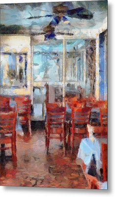 Hellas Restaurant And Bakery  Metal Print by L Wright