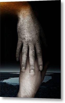 Helping Hand Metal Print by Johan Lilja