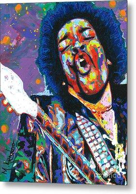 Hendrix Metal Print by Maria Arango