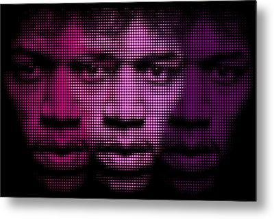 Hendrix - Purple Hazy Metal Print by Bobby Zeik