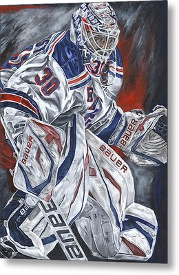 Henrik Lundqvist Metal Print by David Courson