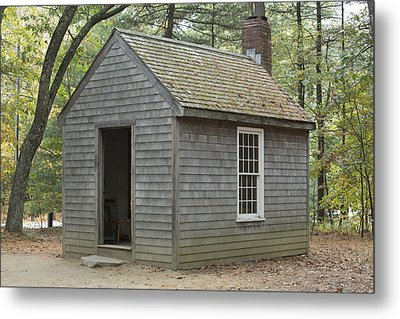 Henry David Thoreaus Cabin Metal Print by Science Stock Photography