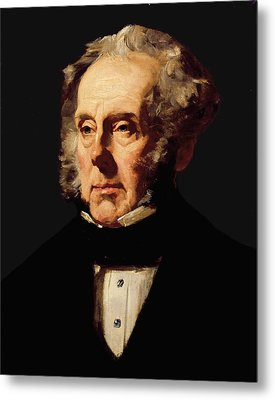 Henry John Temple, 3rd Viscount Palmerston, C.1855 Oil On Canvas Metal Print by Francis Cruikshank