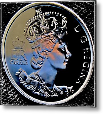 Her Majesty Elisabeth The Second  Coin Metal Print by Danielle  Parent
