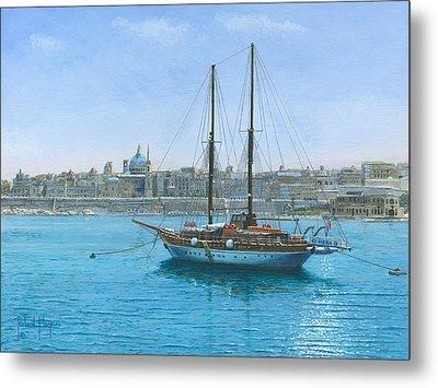 Hera 2 Valletta Malta Metal Print by Richard Harpum