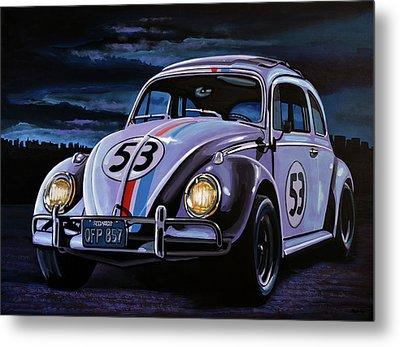 Herbie The Love Bug Painting Metal Print by Paul Meijering
