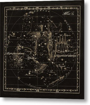 Hercules Constellations, 1829 Metal Print by Science Photo Library