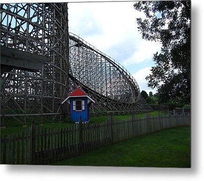 Hershey Park - Wildcat Roller Coaster - 12121 Metal Print by DC Photographer