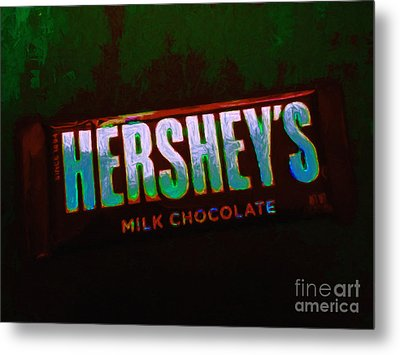Hershey's Chocolate Bar Metal Print by Wingsdomain Art and Photography