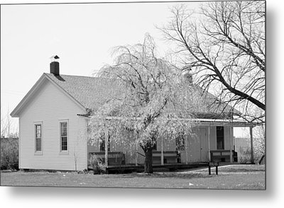 Hickory Grove Meeting House Metal Print by Corrie Blackshear