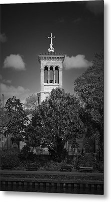 Hidden Church On Thames Metal Print by Maj Seda