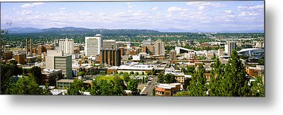 High Angle View Of A City, Spokane Metal Print by Panoramic Images