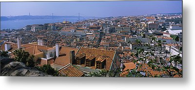 High Angle View Of A City Viewed Metal Print by Panoramic Images