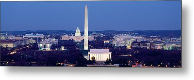 High Angle View Of A City, Washington Metal Print by Panoramic Images