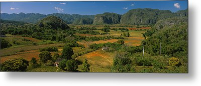 High Angle View Of A Landscape, Valle Metal Print by Panoramic Images