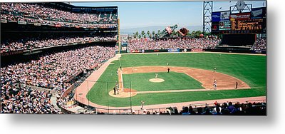 High Angle View Of A Stadium, Pac Bell Metal Print by Panoramic Images