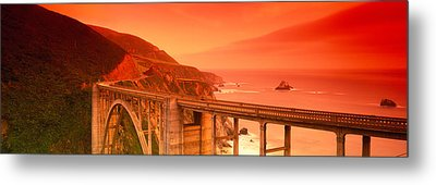 High Angle View Of An Arch Bridge Metal Print by Panoramic Images