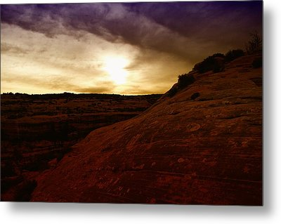 High Desert Clouds Metal Print by Jeff Swan