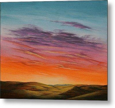 High Plains Sunset Metal Print by J W Kelly