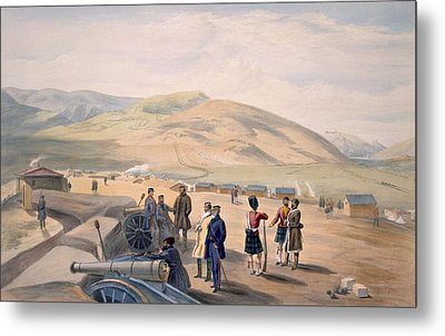 Highland Brigade Camp, Plate From The Metal Print by William 'Crimea' Simpson