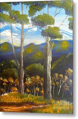 Highlands Gum Trees Metal Print by Pamela  Meredith