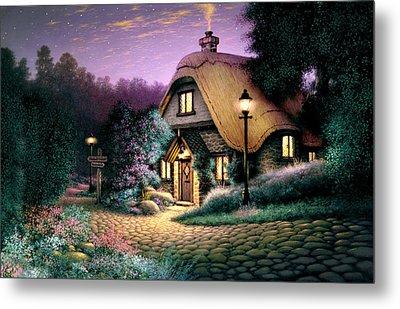 Hillcrest Cottage Metal Print by Steve Read