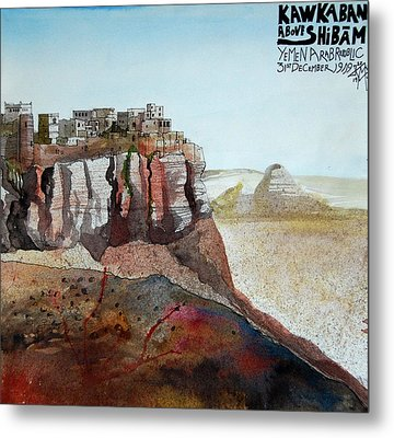 Hilltop Village Metal Print by Matthew Ronalds