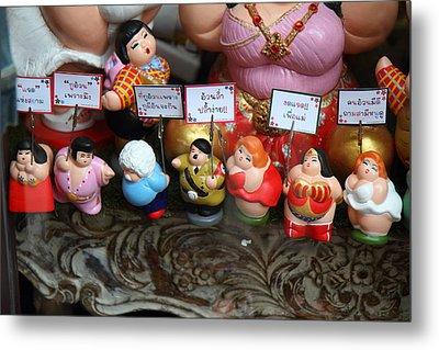 Hilter Doll - Piazza Palio - Khaoyai Thailand - 01131 Metal Print by DC Photographer