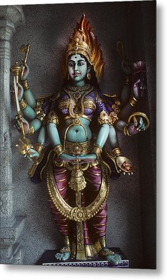 Hindu Goddess Bhairavi Metal Print by Carl Purcell