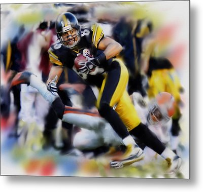 Hines Ward  Metal Print by Dwayne  Graham