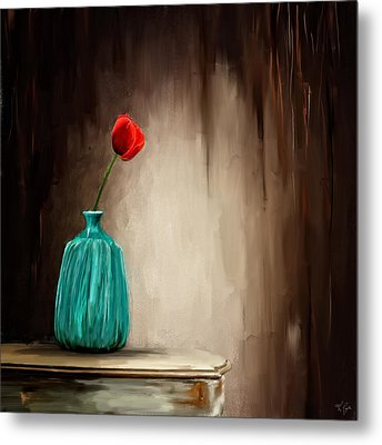 Hint Of Passion Metal Print by Lourry Legarde