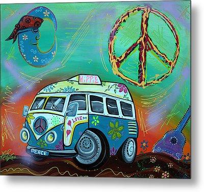 Hippie Trip Metal Print by Laura Barbosa